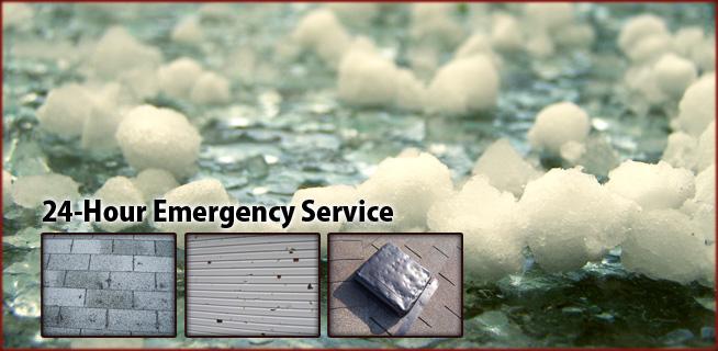 Hail damage cleanup remediation restoration rebuilding
