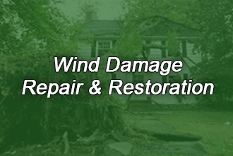 Wind and storm damage repairs and restoration